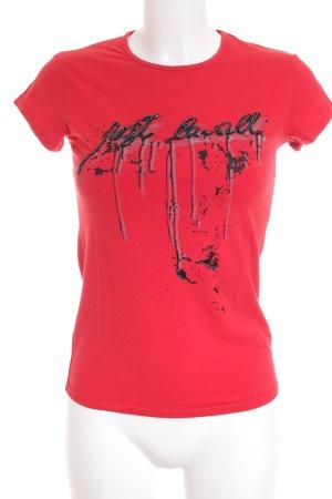 Just cavalli T-Shirt Schriftzug gedruckt Casual-Look