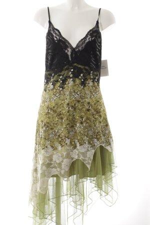 Just cavalli Trägerkleid schwarz-grün Blumenmuster Casual-Look