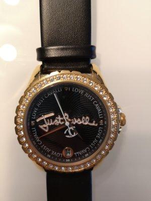 Just cavalli Analoog horloge zwart-goud