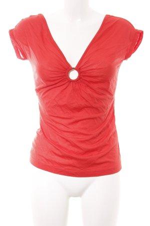 Just cavalli V-Ausschnitt-Shirt rot Casual-Look