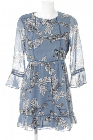 Just Fab Blouse Dress floral pattern Gypsy style