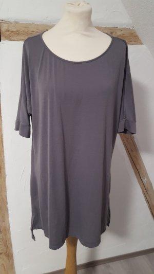 Just Fab Longshirt Maxishirt Größe L grau Basic