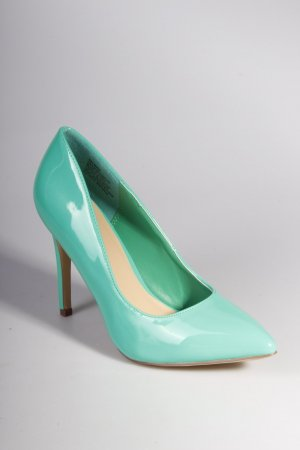 Just Fab Pumps Lack-Optik grün