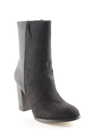 Just Fab Reißverschluss-Stiefeletten schwarz Casual-Look