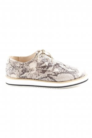 Just Fab Schnürschuhe Animalmuster Street-Fashion-Look
