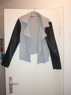 Just Fab Sweat Blazer black-grey polyester