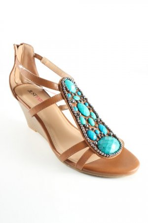 Just Fab Wedges Sandaletten cognac Beach-Look