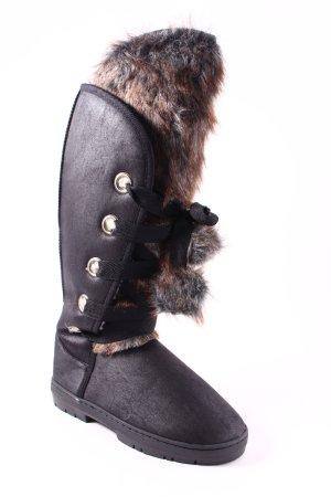 Just Fab Winter Boots black bobble element