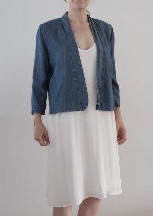 Just Female Blouson Tencel Jacke Wasserfall Kragen Blazer Überwurf Kimono