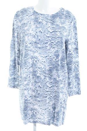 Just Female Blusenkleid weiß-blau abstraktes Muster Casual-Look
