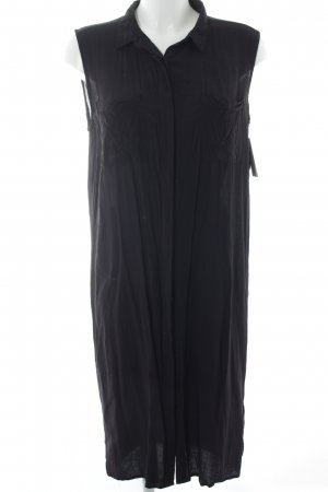 Just Female Vestido camisero negro look casual