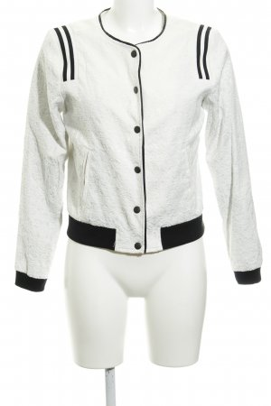 Just Female Bomberjacke wollweiß grafisches Muster Casual-Look