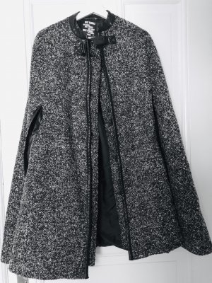 Just Female Oversized Coat black-white