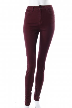 Just Female High Waist Jeans bordeaux