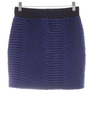 Just Female Jupe taille haute noir-bleu foncé motif abstrait