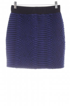 Just Female Falda de talle alto negro-azul oscuro look casual