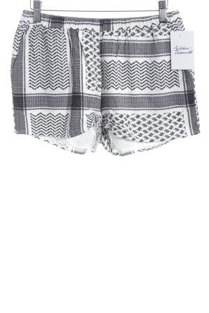 Just Female Hot Pants schwarz-weiß grafisches Muster Beach-Look
