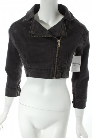 Just Female Jeansjacke anthrazit Casual-Look