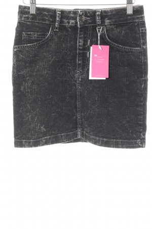 Just Female Jeansrock schwarz-hellgrau Casual-Look