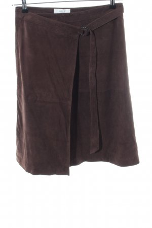 Just Female Leather Skirt lilac casual look