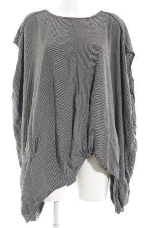 Just Female Kurzarmpullover schwarz-weiß Streifenmuster Casual-Look