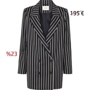Just Female - Laurent Blazer Blue White Stripe - Gr. M