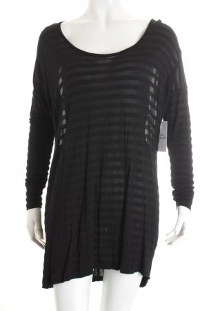 Just Female Longsleeve schwarz Streifenmuster Street-Fashion-Look
