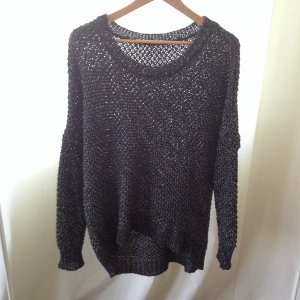 Just Female oversized metallic Strickpullover, one Size