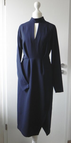 Just Female Pencil Business Dress XS S 6 8 36 Retro 40er 50er Navy Blue Wedding