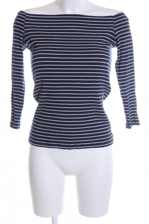 Just Female Ringelshirt blau-weiß Streifenmuster Casual-Look