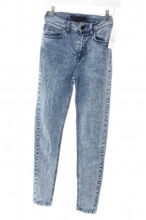 Just Female Skinny Jeans hellblau Washed-Optik