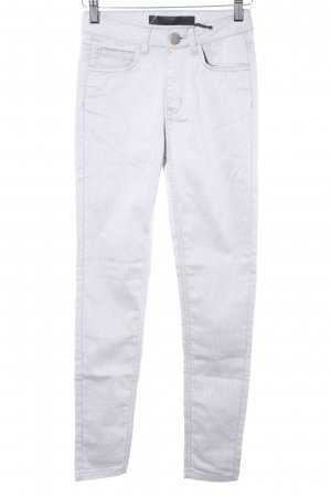 Just Female Skinny Jeans hellgrau meliert Casual-Look