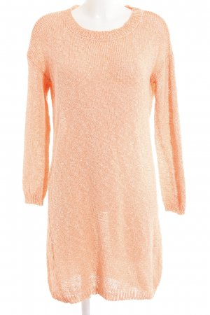 Just Female Strickkleid neonorange-wollweiß meliert Casual-Look