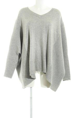 Just Female Maglione con scollo a V grigio chiaro stile casual