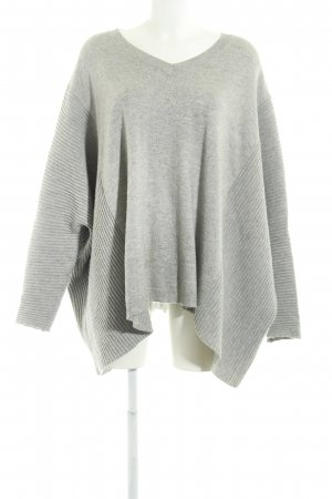 Just Female V-Ausschnitt-Pullover hellgrau Casual-Look
