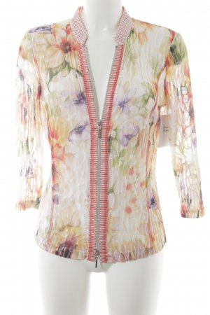 Just White Cardigan florales Muster extravaganter Stil