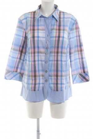 Just White Checked Blouse check pattern casual look