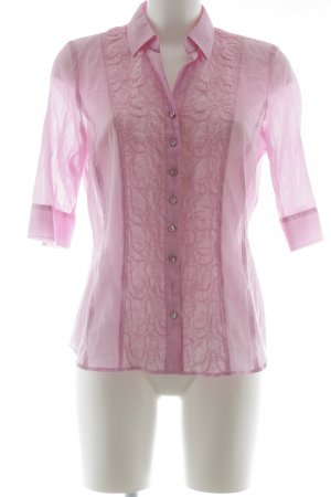 Just White Kurzarm-Bluse rosa Casual-Look
