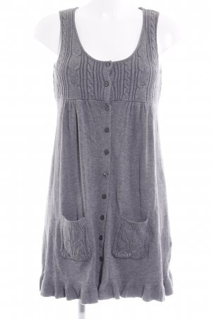 Just Woman Strickkleid grau Zopfmuster Casual-Look