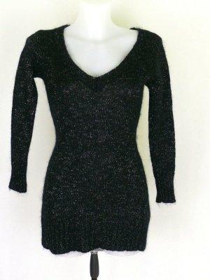 Just Woman Jersey de lana negro-gris antracita mohair