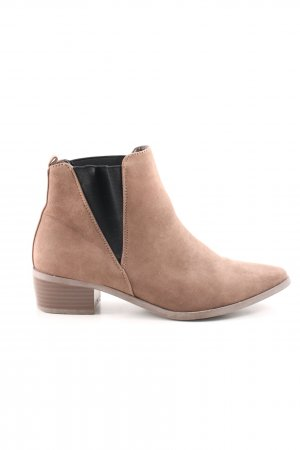JustFab Ankle Boots nude-schwarz Casual-Look