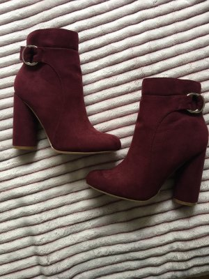 JustFab Ankle Boots bordeaux