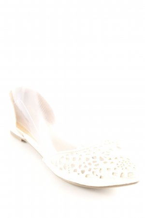 JustFab Ballerinas with Toecap cream beach look
