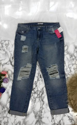 Justfab Destroyed Jeans Boyfriend Jeans Neu