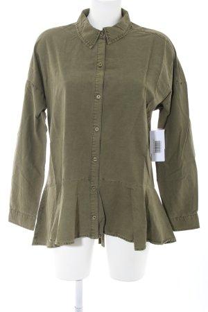 JustFab Shirt met lange mouwen khaki casual uitstraling