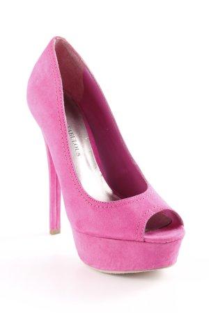 JustFab Platform Pumps pink extravagant style