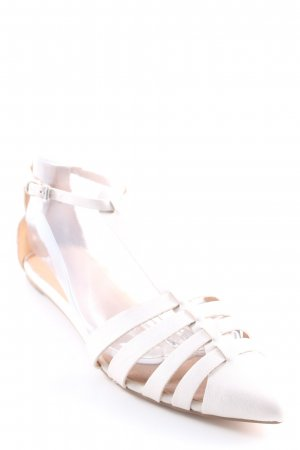 730b8327f4e JustFab Strapped Sandals white-silver-colored elegant