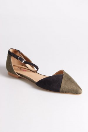 JustFab Riemchen-Sandaletten schwarz-khaki