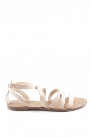 JustFab Roman Sandals nude-natural white animal pattern casual look