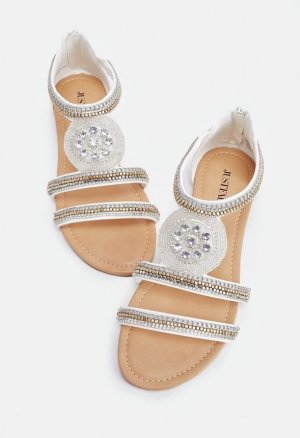 Just Fab Comfort Sandals white